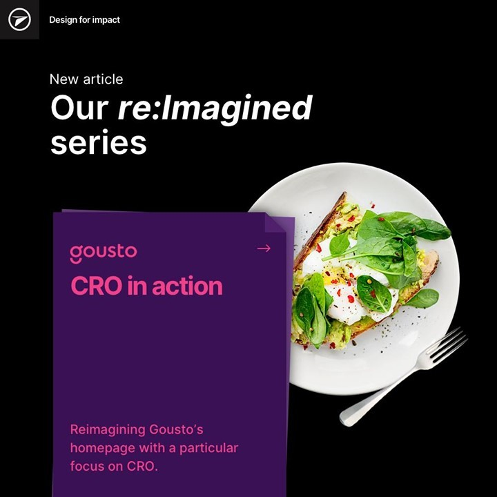The new article from our re:Imaginged series has landed. See how we redesigned a new homepage for @goustocooking, utilising the latest eye-tracking technology from EyeQuant to inform our design decisions.  Check it out on our website at: http://ow.ly/iXJP50D2p5h  #cro #crodesign #conversionrateoptimisation #ux #uidesign #ui #web #webdesign #userinterface #userexperience #designinspiration #creative #websitedesign #UXUI #UXdesign #UserExperience #Design #ArtDirection #DigitalIdentity  #InteractionDesign #DesignInspiration #Development #Frontend #Backend #CaseStudy